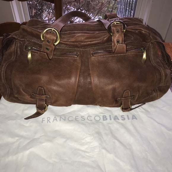 Francesco Biasia brown leather purse
